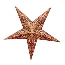 Sternenlicht Papierstern Alask Braun Gold Glitter 5 Zackig