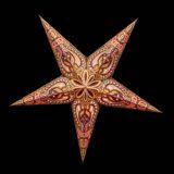 Sternenlicht Papierstern Alask Braun Gold Glitter 5 Zackig Nachts