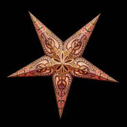Braune und Goldbraune Sterne