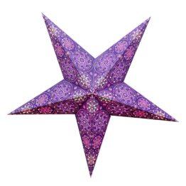Sternenlicht Papierstern Cyclone New Lila 5 Zackig
