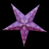 Sternenlicht Papierstern Cyclone New Lila 5 Zackig Nachts