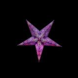 Sternenlicht Papierstern Cyclone New Lila 5 Zackig Baby Nachts