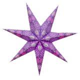Sternenlicht Papierstern Cyclone New Lila 7 Zackig