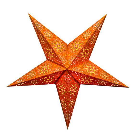Sternenlicht Papierstern Cyclone New Orange 5 Zackig