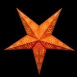 Sternenlicht Papierstern Cyclone New Orange 5 Zackig Nachts