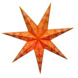 Sternenlicht Papierstern Cyclone New Orange 7 Zackig