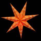 Sternenlicht Papierstern Cyclone New Orange 7 Zackig Nachts