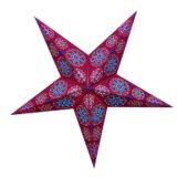 Sternenlicht Papierstern Cyclone New RotBlau 5 Zackig