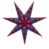 Sternenlicht Papierstern Cyclone New RotBlau 7 Zackig