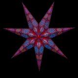 Sternenlicht Papierstern Cyclone New RotBlau 7 Zackig Nachts