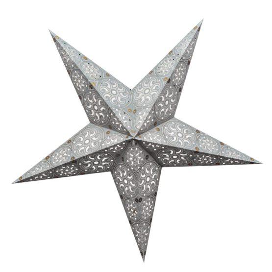 Sternenlicht Papierstern Cyclone New Silber 5 Zackig