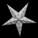 Sternenlicht Papierstern Cyclone New Silber 5 Zackig Nachts