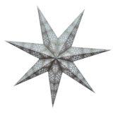 Sternenlicht Papierstern Cyclone New Silber 7 Zackig