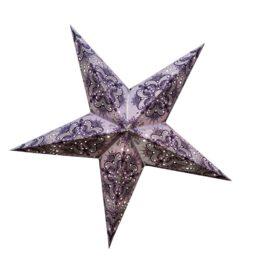 Sternenlicht Papierstern Queen Flieder 5 Zackig