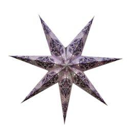 Sternenlicht Papierstern Queen Flieder 7 Zackig