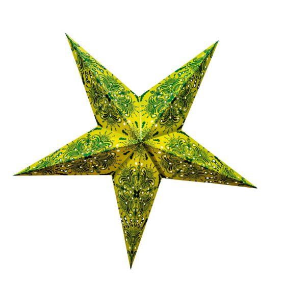 Sternenlicht Papierstern Queen Gruen 5 Zackig