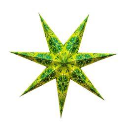Sternenlicht Papierstern Queen Gruen 7 Zackig