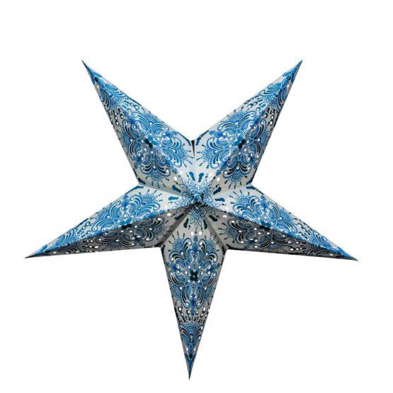 Sternenlicht Papierstern Queen Hellblau 5 Zackig
