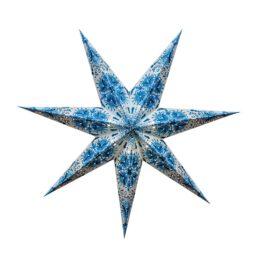 Sternenlicht Papierstern Queen Hellblau 7 Zackig