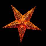 Sternenlicht Papierstern Queen Orange 5 Zackig Nachts