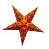 Sternenlicht Papierstern Queen Orange 5 Zackig