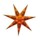 Sternenlicht Papierstern Queen Orange 7 Zackig