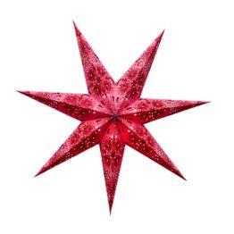 Sternenlicht Papierstern Queen Rosa 7 Zackig