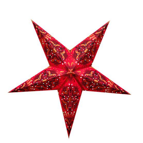 Sternenlicht Papierstern Queen Rot 5 Zackig