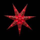 Sternenlicht Papierstern Queen Rot 7 Zackig