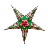 Sternenlicht Papierstern Royal Grün 5 Zackig