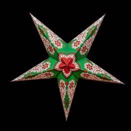 Sternenlicht Papierstern Royal Grün 5 Zackig Nachts