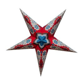 Sternenlicht Papierstern Royal Rot 5 Zackig