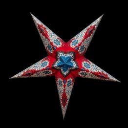 Sternenlicht Papierstern Royal Rot 5 Zackig Nachts