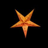 Sternenlicht Spirale bestickt Orange 5 Zack Baby Nachts