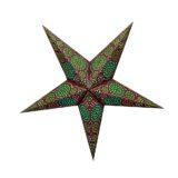 Sternenlicht Papierstern Sydney Braun 5 Zackig