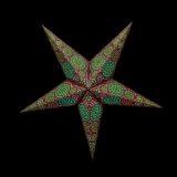 Sternenlicht Papierstern Sydney Braun 5 Zackig Nachts