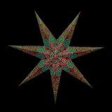Sternenlicht Papierstern Sydney Braun 7 Zackig Nachts