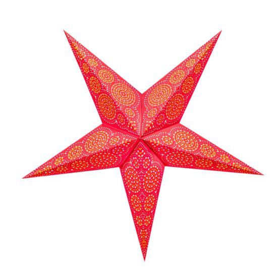 Sternenlicht Papierstern Sydney Rot 5 Zackig
