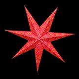 Sternenlicht Papierstern Sydney Rot 7 Zackig Nachts