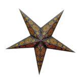 Sternenlicht Papierstern Sydney Schwarz 5 Zackig