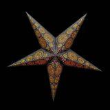 Sternenlicht Papierstern Sydney Schwarz 5 Zackig Nachts