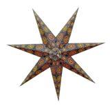 Sternenlicht Papierstern Sydney Schwarz 7 Zackig