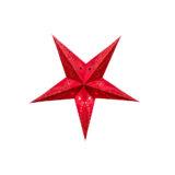 Sternenlicht Papierstern Venezia Rot Baby 5 Zackig