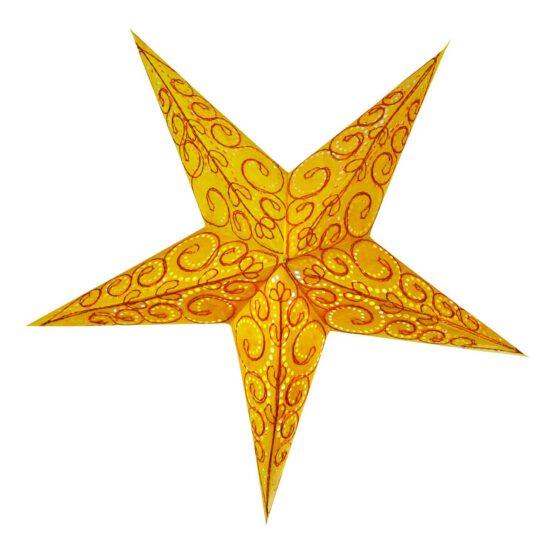 Sternenlicht Spirale bestickt Orange 5 Zack