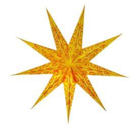 Sternenlicht Spirale bestickt Orange 9 Zack