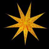 Sternenlicht Spirale bestickt Orange 9 Zack Nachts