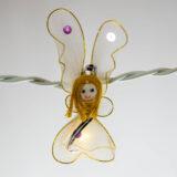 Feenlichter Lichterkette LED Engel weiss Detail
