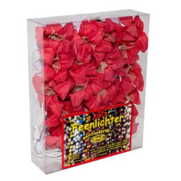 Feenlichter Lichterketten LED Lilien Rot 20L Neue Verpackung
