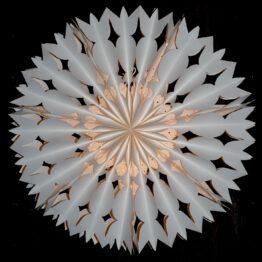 Sonnenrad Papierlampe im nordischen Look Nachts