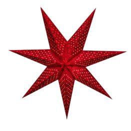 Sternenlicht Papierstern Alhambra Rot Glitter 7 Zackig